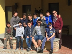 il gruppo dei ragazzi delle medie di quest'anno