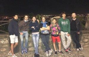 il gruppo delle superiori, in gita 'notturna' a Bergamo alta